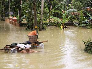 Katastrophales Hochwasser in Kerala