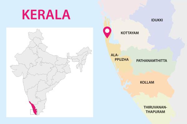 Karte von Kerala